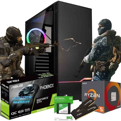 Pc Gamer Ryzen 5 1600 Af | Gtx 1660 Super 6gb | 16gb Ram | Ssd 480gb  | Fuente 650w 80 Plus