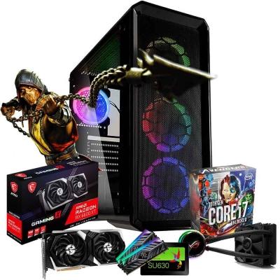 Pc Gamer Intel I7 10700k | Amd Radeon Rx 6600 Xt | 16gb Ram | Ssd 480gb  | Fuente 650w 80 Plus | Watercooling