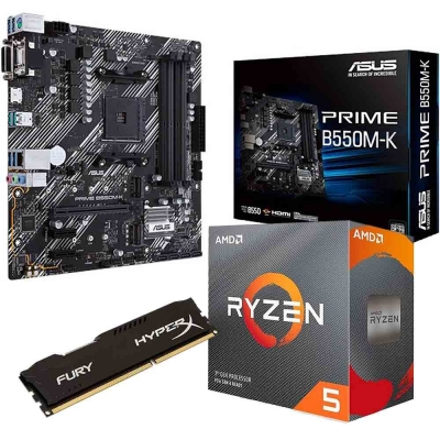Combo Amd Ryzen 5 3600 | Mother B550m-k  | Ram 8gb 3200 Mhz