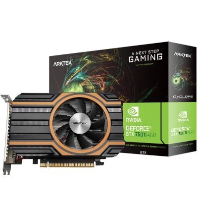 Placa De VÍdeo Geforce Arktek Gtx 750ti 4gb Ddr5 128bit Single Fan