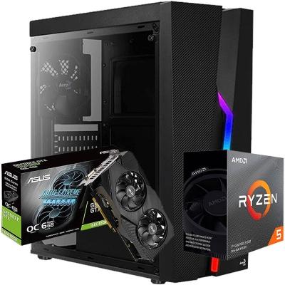 Pc Gamer Ryzen 5 3600 | Gtx 1660 Super 6gb | 8gb Ram | 1 Tb | Ssd 240gb  | Fuente 600w 80 Plus