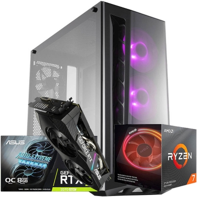 Pc Gamer Ryzen 7 3700x | Rtx 2070 Super 8gb | 16gb Ram | 1 Tb | Ssd 240gb  | Fuente 700w 80 Plus