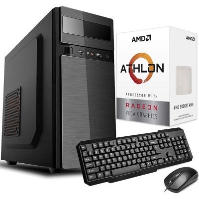 Pc Office Amd Athlon 3000g | GrÁficos Vega 3 | Ssd 240gb | 4gb Ram | Fuente 500w