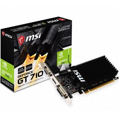 Placa De VÍdeo Geforce Msi Gt 710 2 Gb Ddr3 Lp