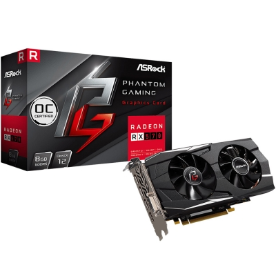 Placa De VÍdeo Asrock Radeon Rx 570 8gb