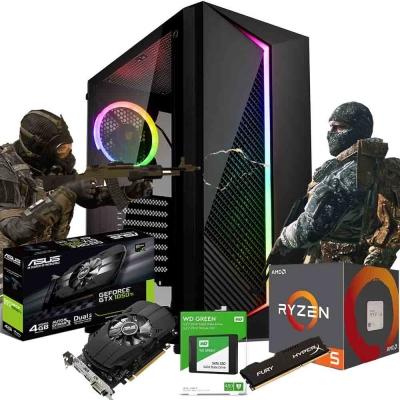 Pc Gamer Ryzen 5 1600 Af | Gtx 1050 Ti 4gb | 8gb Ram | Ssd 480gb  | Fuente 550w 80 Plus