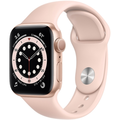 Apple Watch Serie 6 40mm Gold Aluminum / Pink Sand Sport Band