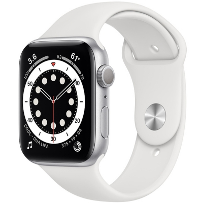 Apple Watch Serie 6 44mm Silver Aluminum / White Sport Band