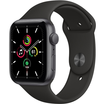 Apple Watch Serie-se 44mm Space Gray Aluminum / Black Sport Band