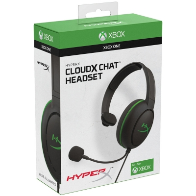 Auriculares Hyperx Cloud Chat Black / Green Xbox Licensed