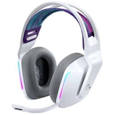 Auriculares Logitech Gaming G733 Lightsync Rgb White