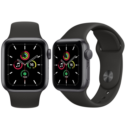 Apple Watch Serie-se 40mm Space Gray Aluminum / Black Sport Band