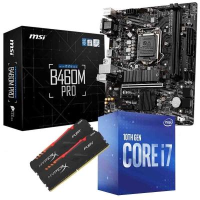 Combo Intel I7 10700f + Mother B460m + Ram 16gb (2x8gb) 3000mhz