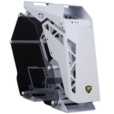 Gabinete Cougar Conquer Aluminum Vidrio Templado White