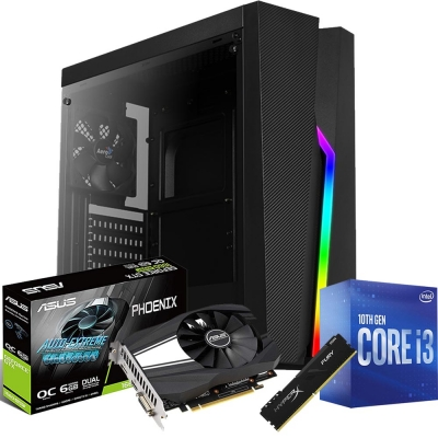 Pc Gamer Core I3 10100f | Gtx 1660 Super 6gb | 8gb Ram | 1 Tb | Ssd 120gb | Fuente 500w 80 Plus