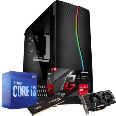 Pc Gamer Core I3 10100f   Rx 570 4gb   8gb Ram   1 Tb   Ssd 120gb   Fuente 500w 80 Plus