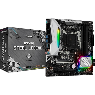 Mother Am4 Asrock B450m Steel Legend