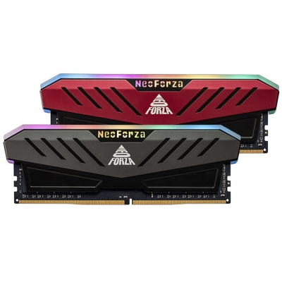 Memoria Ram Neo Forza Mars Red Rgb  Kit 2x8gb Ddr4 3200mhz