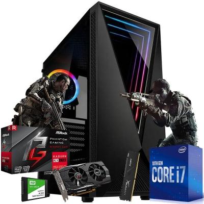 Pc Gamer Intel Core I7 10700f | Rx 570 4gb | 8gb Ram | 1 Tb | Ssd 240gb  | Fuente 500w 80 Plus