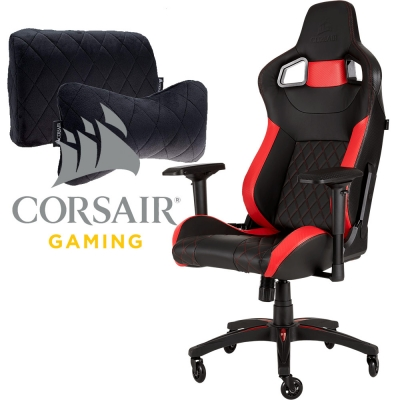 Silla Gamer Corsair T1 Race Black / Red